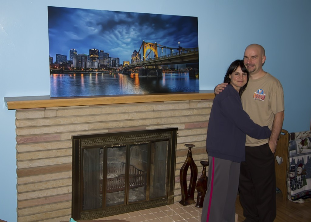 A Happy Customer with a 30 X 60 Gatorboard Print of Blue Hour Bliss