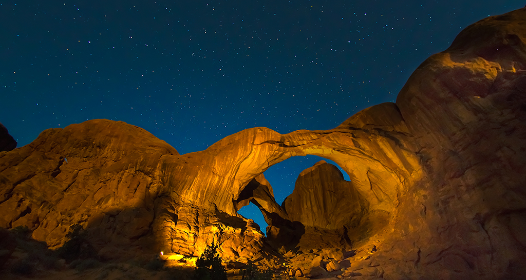 Moab Light Painting, Arches National Park